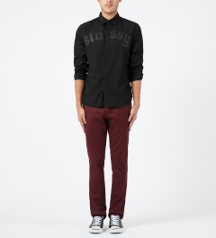 Stussy Black Top Button L/S Shirt Model Picture