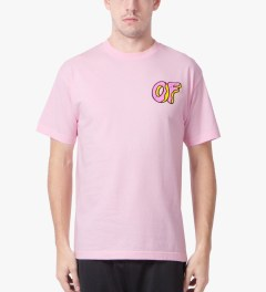 Odd Future Pink OF Donut T-Shirt Model Picutre