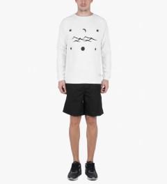 Libertine-Libertine White/Black Grill Space Sweatshirt Model Picture