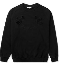 Carven Black Cut Out Molleton Coat Sweater Picture
