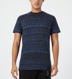 Stussy Black Tom Tom S/S Crewneck T-Shirt Model Picture