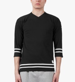 Deluxe Black Cannonball L/S Baseball T-Shirt Model Picutre