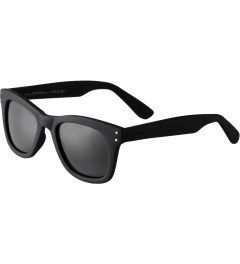 KOMONO Black Rubber Allen CZ Sunglasses Model Picutre