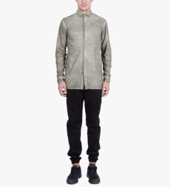 SILENT Damir Doma Grey Serin Basic Shirt Model Picture