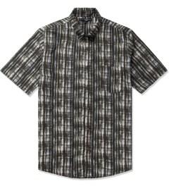 The Quiet Life Grey/Blue Liberty Batik Button Up Shirt Picutre