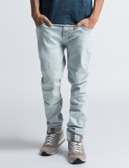 Nudie Jeans Lean Dean Ecru Beach Blue Denim Pants Picture