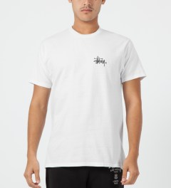 Stussy White Basic Logo T-Shirt Model Picture