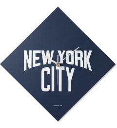 SECOND LAB Navy NYC Print Clock Picture