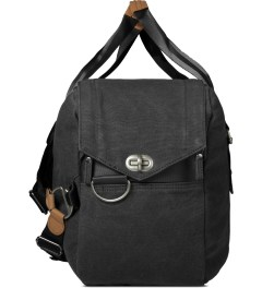QWSTION Washed Black Weekender Bag Model Picture