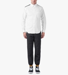 Mark McNairy White Contrast Yoke L/S Oxford Shirt Model Picture