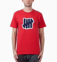 Undefeated Red Double 5 Strike SS T -Shirt Model Picutre