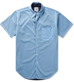 Mark McNairy Sky Navy SS BD REVERSIBLE MESH SHIRT Picture