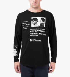 Midnight Studio Black Rebel L/S T-Shirt Model Picutre