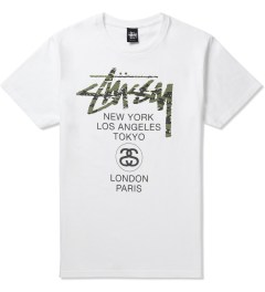Stussy White World Tour Camo T-Shirt Picture