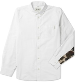 Carhartt WORK IN PROGRESS White/Camo Mitchell Rinsed L/S Raymond Shirt Picutre