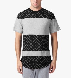 Stampd Black/Grey The Gridded Panel T-Shirt Model Picutre