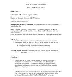 Middle School Career Development Lesson Plans [ 1024 x 791 Pixel ]