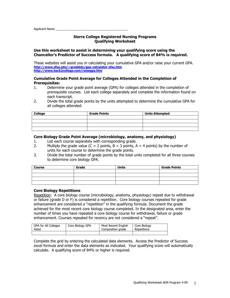 hight resolution of RN Qualifying Worksheet