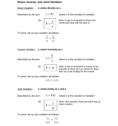 Direct And Inverse Variation Worksheet With Answers - Promotiontablecovers [ 1024 x 791 Pixel ]