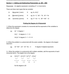 Unit 7 (Chapter 7) Polynomials (P [ 1024 x 791 Pixel ]