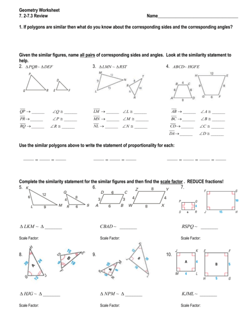 small resolution of 28 72 Similar Polygons Worksheet Answers - Worksheet Project List