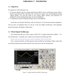 of this laboratory are to become familiar with the agilent infiniivision 2000 x series oscilloscope and its built in function generation dvm  [ 791 x 1024 Pixel ]