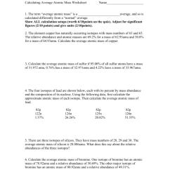 30 Calculating Average Atomic Mass Worksheet - Worksheet Resource Plans [ 1024 x 791 Pixel ]