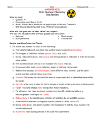 Nuclear Chemistry Equations Worksheet Answers - Tessshebaylo