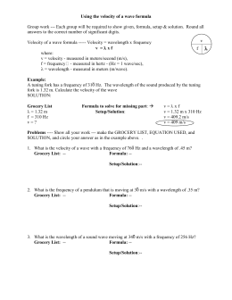 Physics General Wave Problems