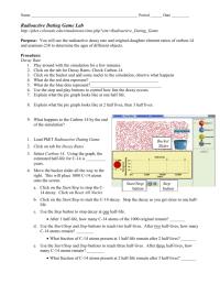 worksheet. Radiometric Dating Worksheet. Grass Fedjp ...