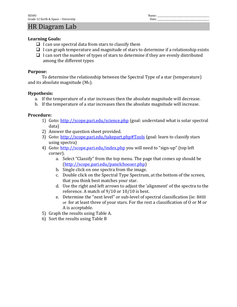 hight resolution of hr diagram lab advertisement ses4u grade 12 earth space university name