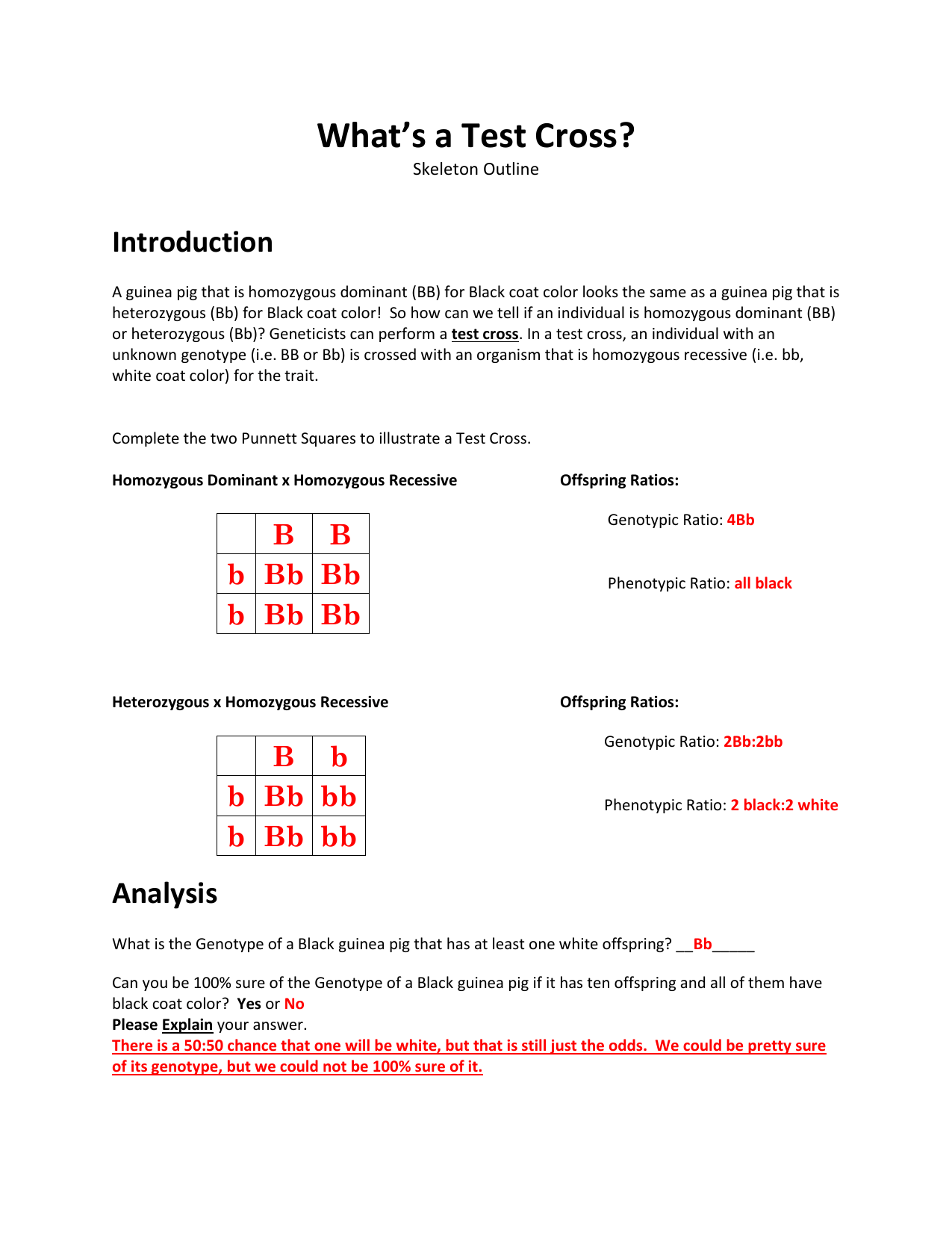 What S A Test Cross Key