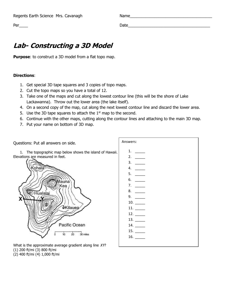 hight resolution of 34 Earth Science Topographic Map Worksheet Answers - Worksheet Resource  Plans