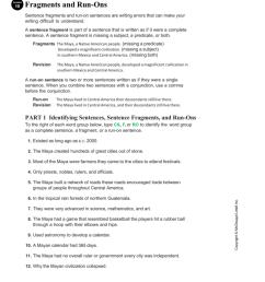 31 Correcting Sentence Fragments Worksheet - Worksheet Resource Plans [ 1024 x 791 Pixel ]
