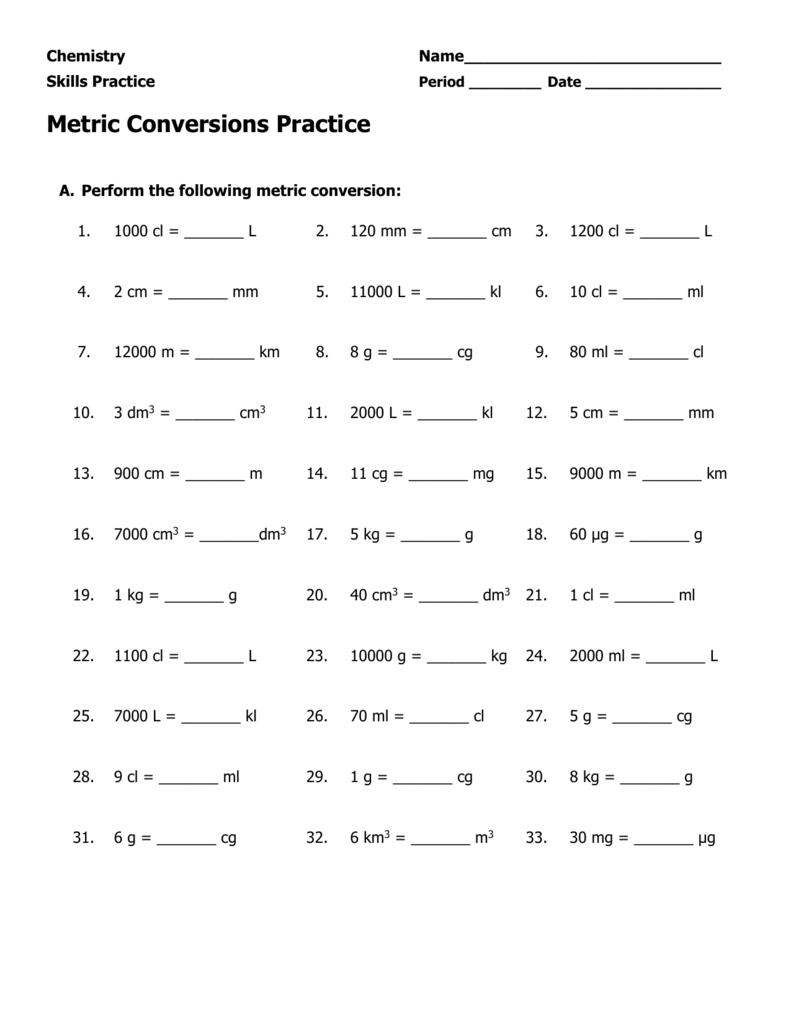 1 Liter = Dm3 : liter, Metric, Conversions, Practice