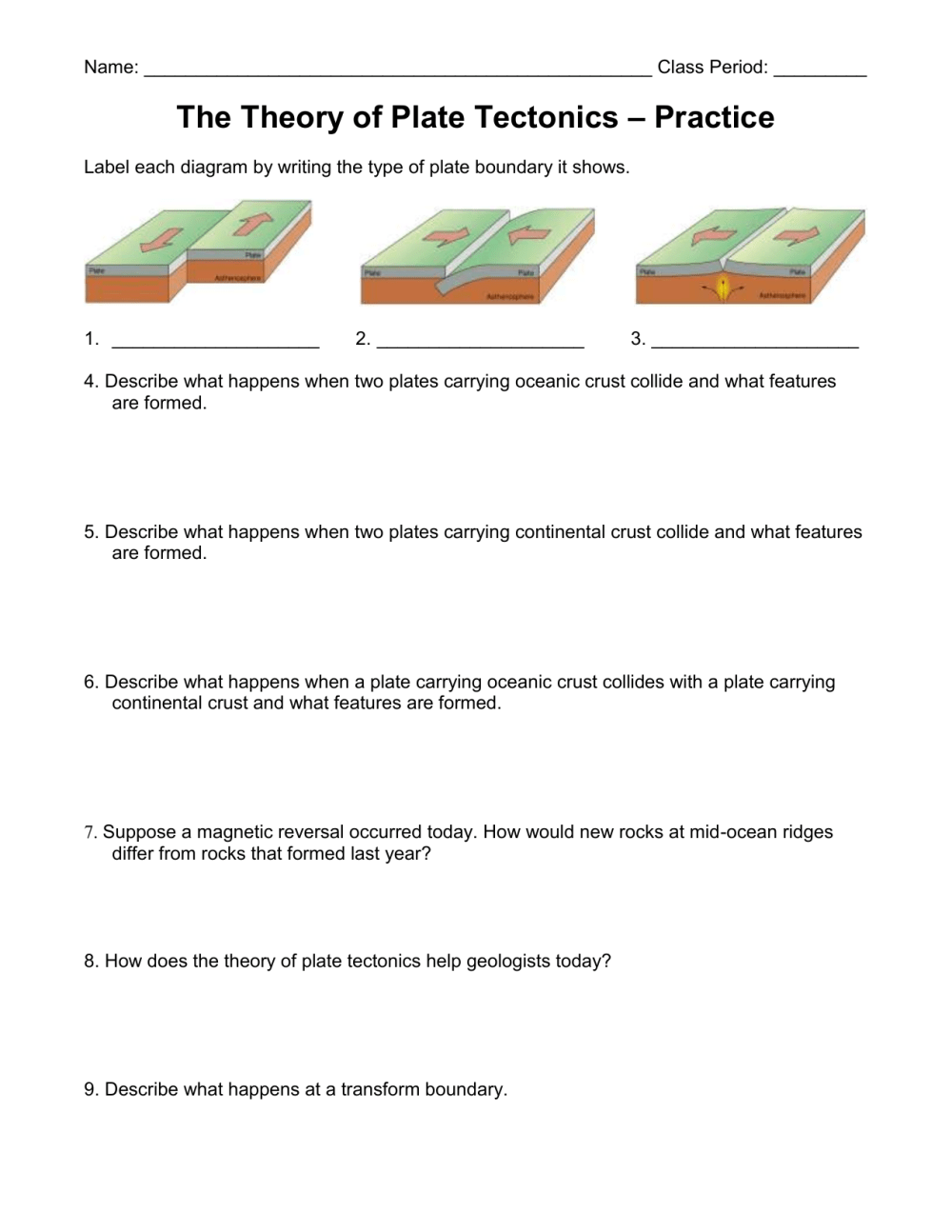 medium resolution of Label Plate Tectonics Worksheet   Printable Worksheets and Activities for  Teachers