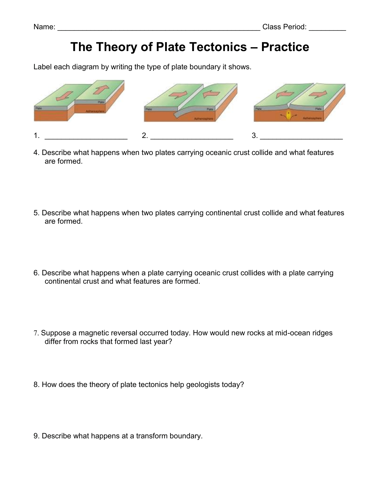 hight resolution of Label Plate Tectonics Worksheet   Printable Worksheets and Activities for  Teachers