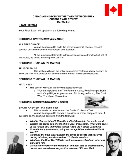 small resolution of Grade 10 Canadian History Test - The Best Picture History