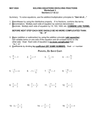 Solving Equations With Fractions And Variables On Both ...