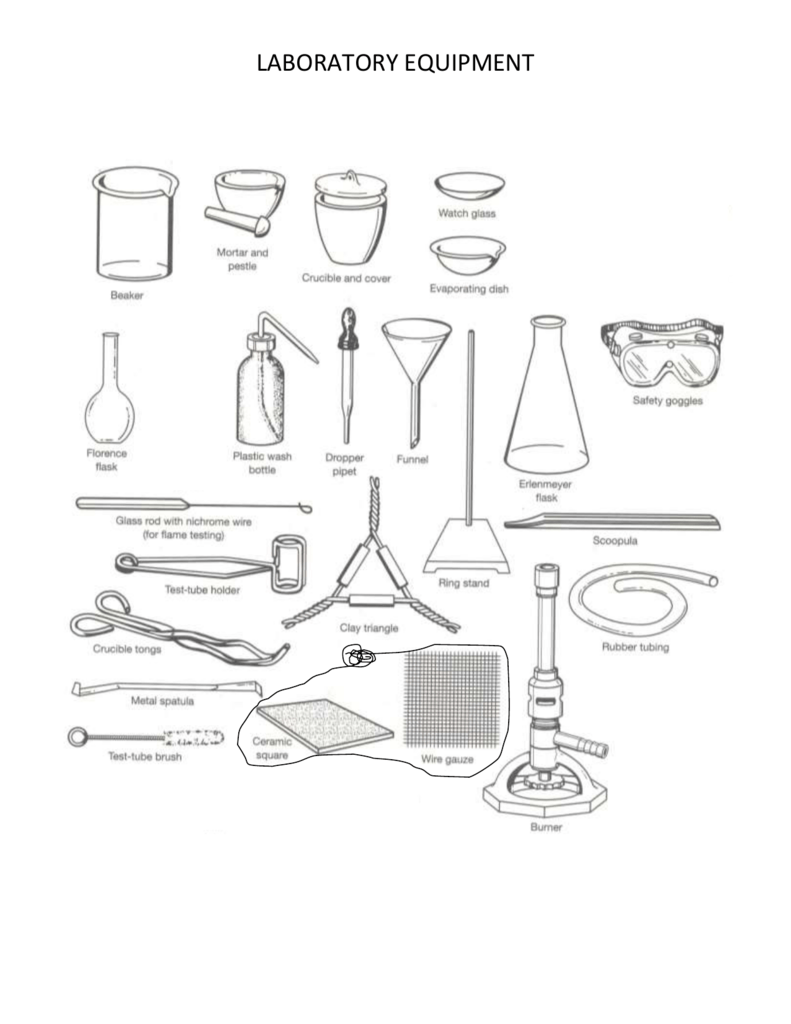 Lab glassware and equipment