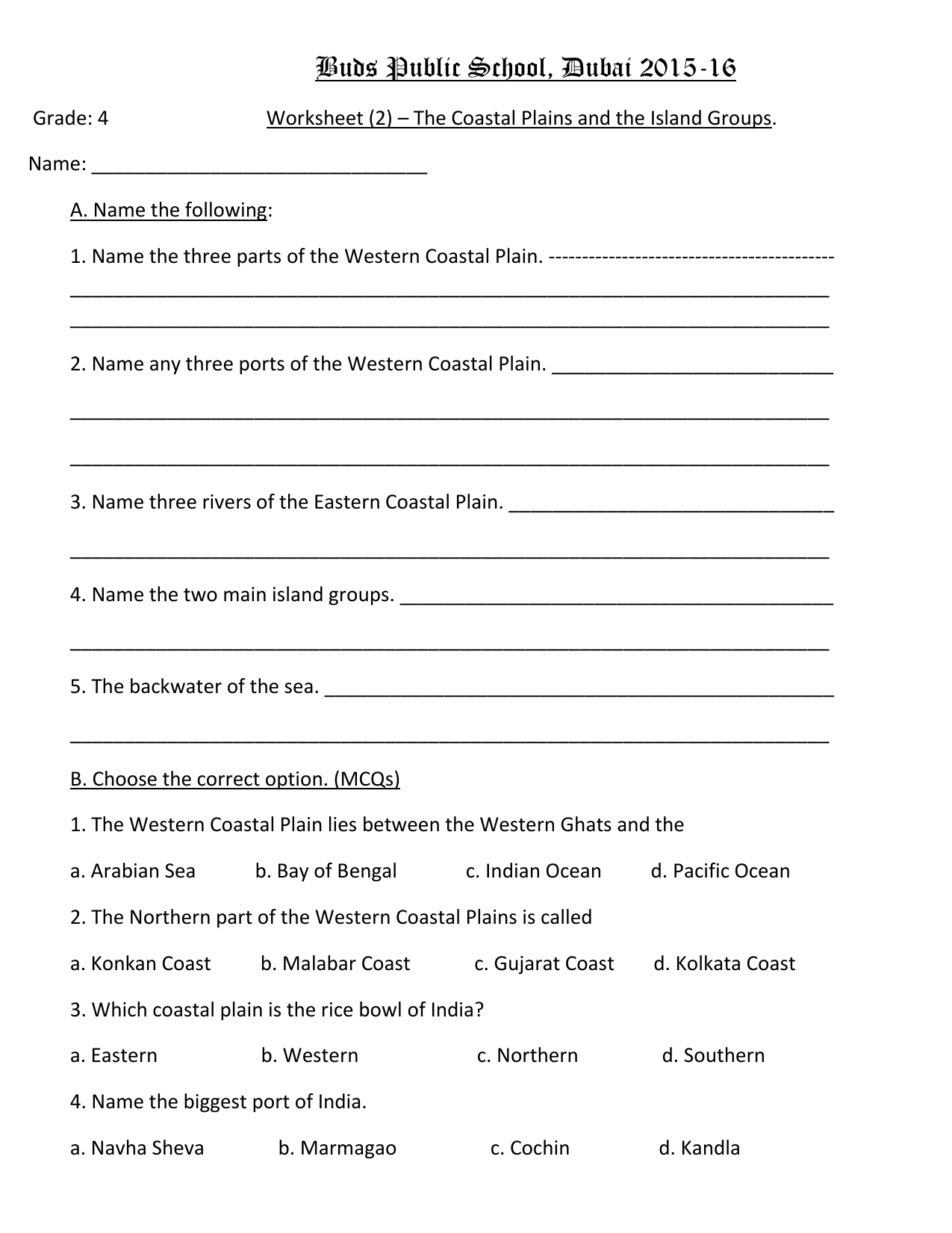 hight resolution of The Coastal Plains and Islands. worksheet (2)