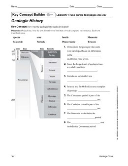 Geologic Time Scale worksheet answer key (1)