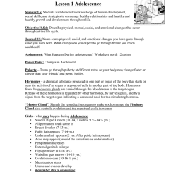 Lesson 1 Adolescence Blog [ 1024 x 791 Pixel ]