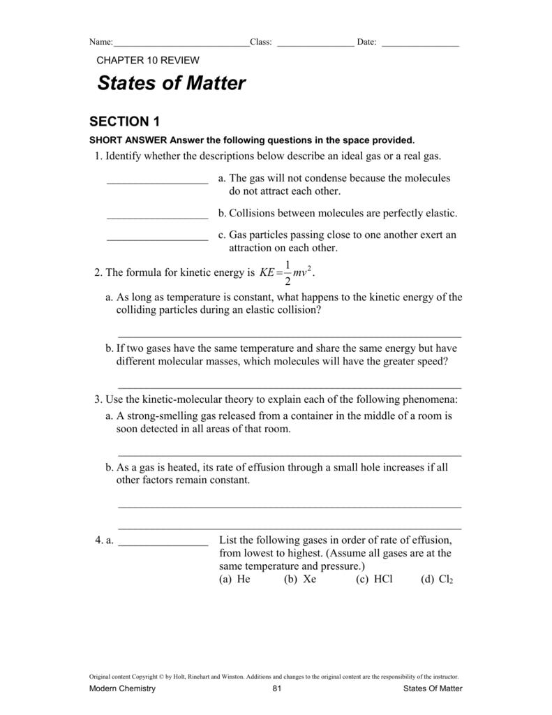 330 10 W Ksheets Modern Chem Textbook