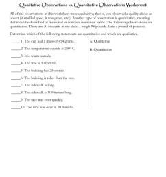 Qualitative Vs Quantitative Observations Worksheet - Worksheet List [ 1024 x 791 Pixel ]