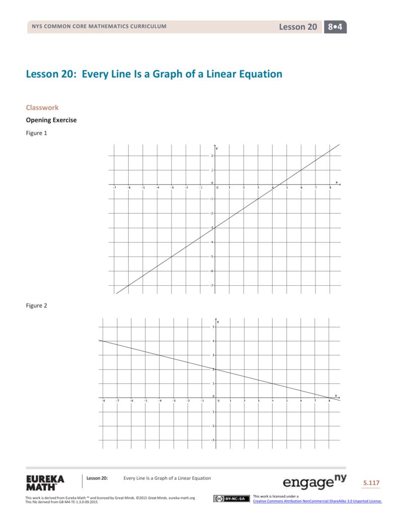 Grade 8 Mathematics Module 4, Topic C, Lesson 20