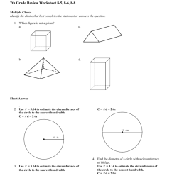 7th Grade Review Worksheet 8-5 [ 1024 x 791 Pixel ]