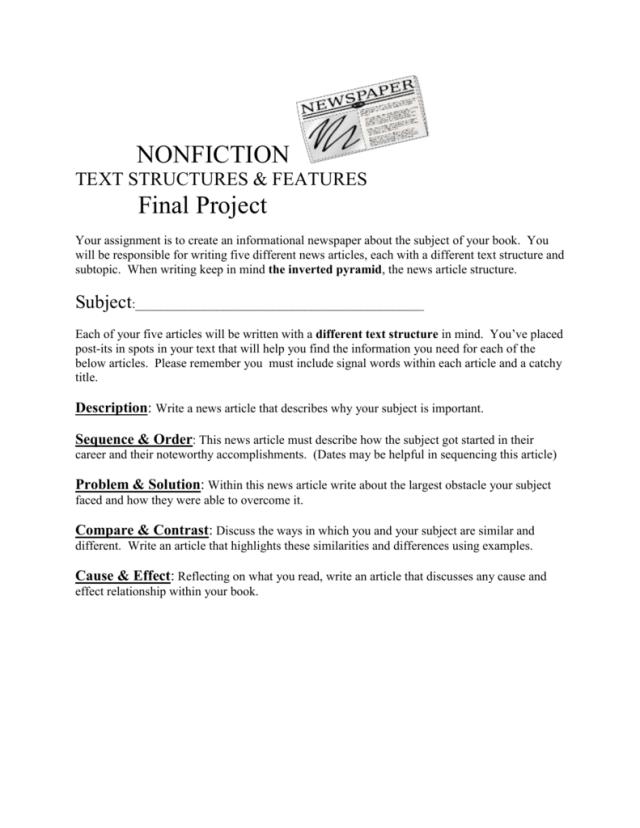 Biography Newspaper Final Project