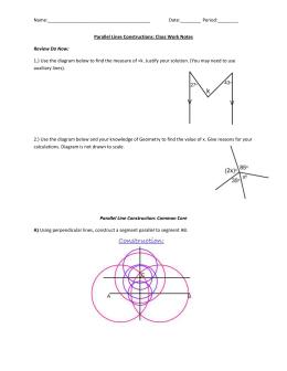 Pre-AP Geometry: Unit 1