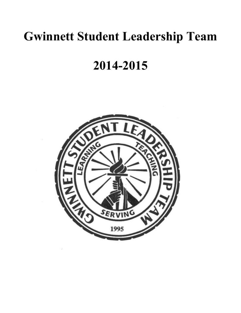 2014-2015 Gwinnett Student Leadership Team Application